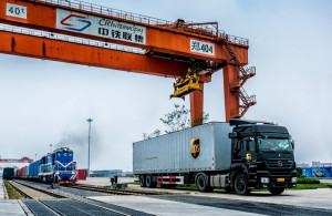 UPS China EU rail