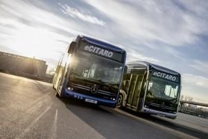 Aufbruch nach Europa. Die ersten Mercedes-Benz eCitaro für Europa machen sich auf den Weg. // Off to Europe. The first Mercedes-Benz eCitaro buses set out for Europe.